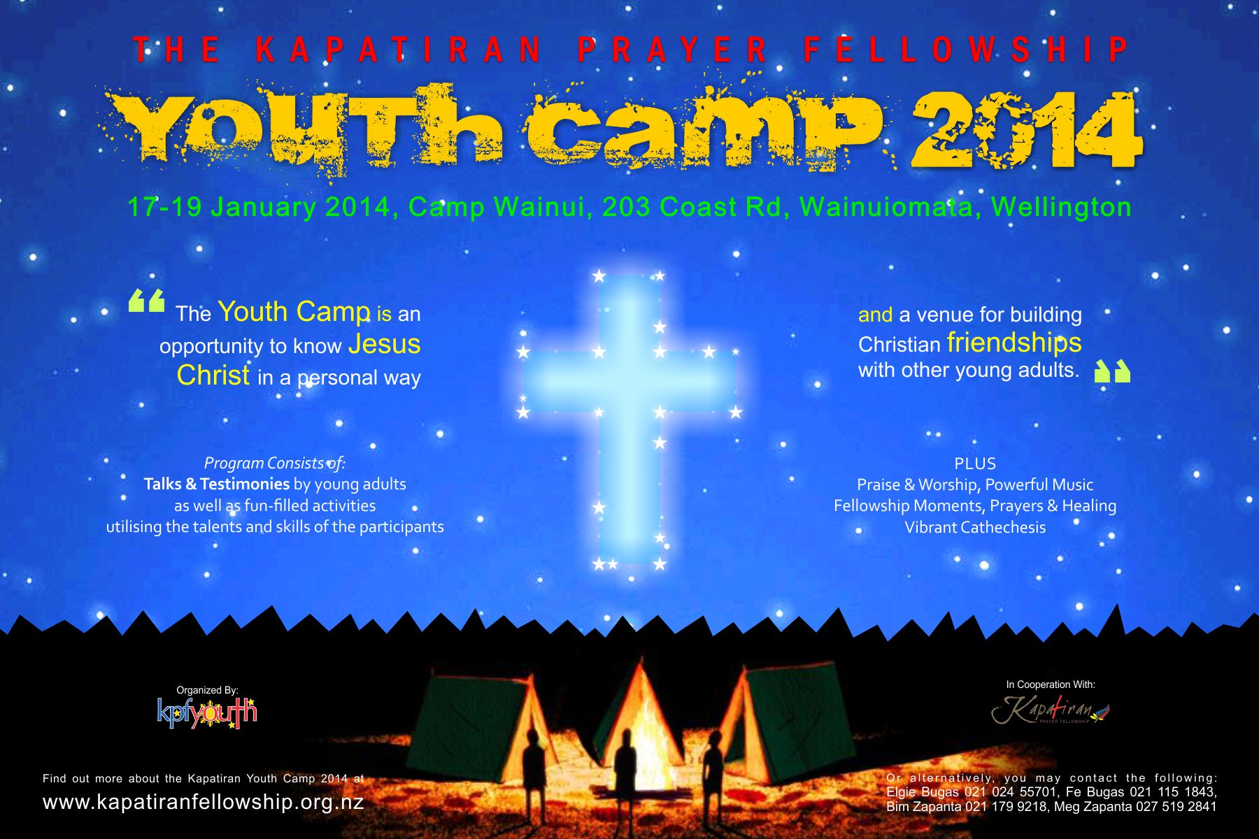 Poster design for youth - Kpf Youth Camp Web Invitation