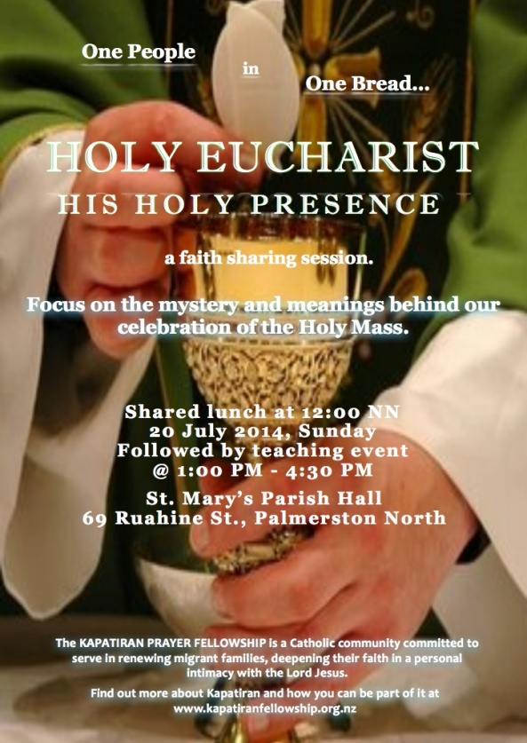KPF Palmy Holy Eucharist Teaching Event