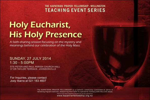 KPF Wlg Holy Eucharist Teaching Event