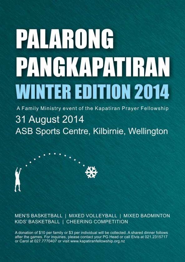 KPF Wellington - Palarong Pangkapatiran 2014 Poster