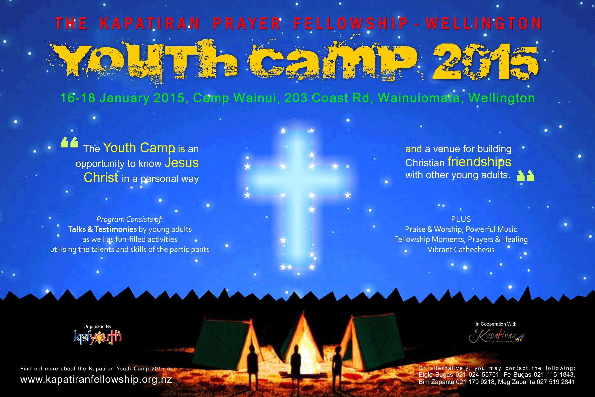 Poster design 2015 - Kpf Wlg Youth Camp Poster Design 2015 Web
